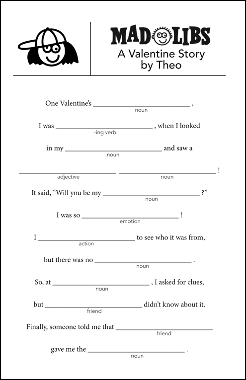 It is a graphic of Dramatic Mad Libs Printable